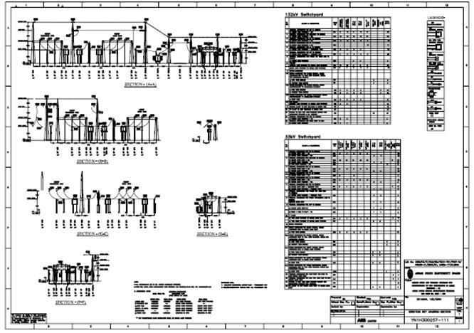 Power transmission distribution switchyard design detailed erection key diagram section click to zoom ccuart Images